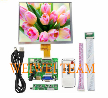 цена на 8 inch LCD 1024*768 Display Monitor Screen Kit with Drive Board (HDMI+VGA+AV) for Raspberry Pi 3, PC Windows 7/8/10