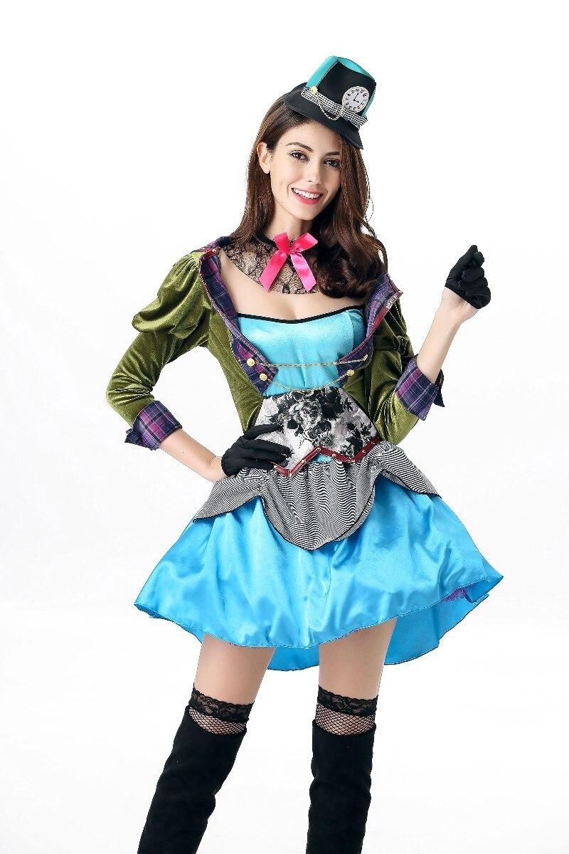 2017 halloween costumes for women Teen Girls Sassy Mad Hatter Alice ...