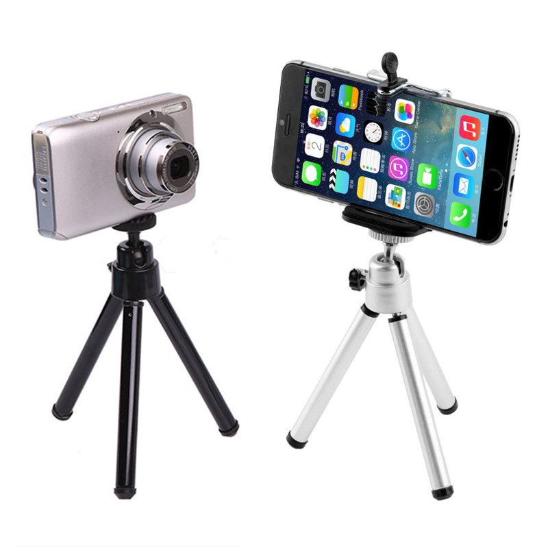 Aluminum Alloy Mini Tripod Lightweight Tripod Stand Mount Universal Android Phones for