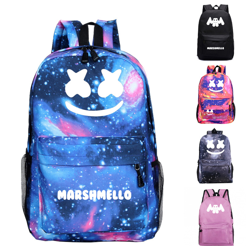 Catoon Music DJ Marshmello Alone Boy Girl School Bag Women Bagpack Teenagers Schoolbags Nylon Lady Femme Backpack