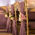 20 Pieces Light Purple Wedding Decorations Supplies Boho Beach Wedding Party Banquet Flower Chair Sashes Wedding Accessories