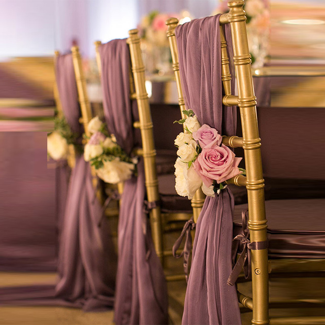 20 Pieces Light Purple Wedding Decorations Supplies Boho Beach Wedding Party Banquet Flower Chair Sashes Wedding Accessories