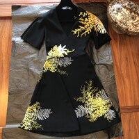 2019 летнее платье Новый стиль модные женские туфли Повседневный шифоновый пляжный комбинезон Длинные платье с цветочным рисунком вечерние