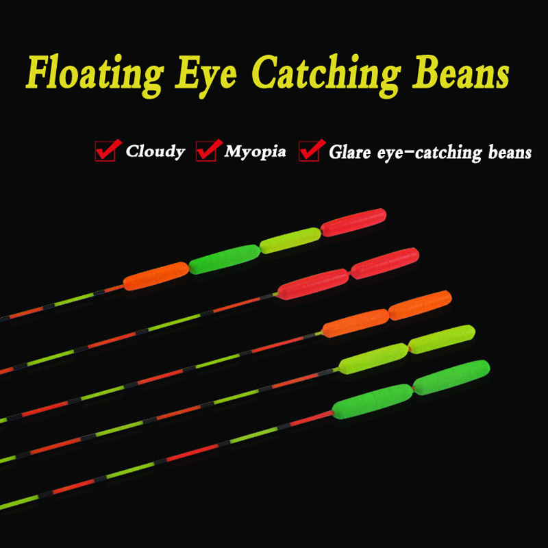 Aorace 10Pcs Orange/Red/Green/Yellow Fishing Float Bobber Floating Foam Oval Indicator Fish Accessories Tackles
