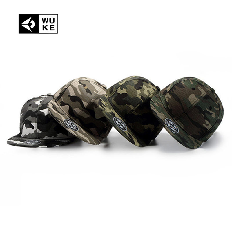 [Wuke] 4 Colors Camouflage Snapback   Caps   Camo Gorras Planas Hip Hop Hats For Men 6 Panel   Baseball     Cap   For Men Women