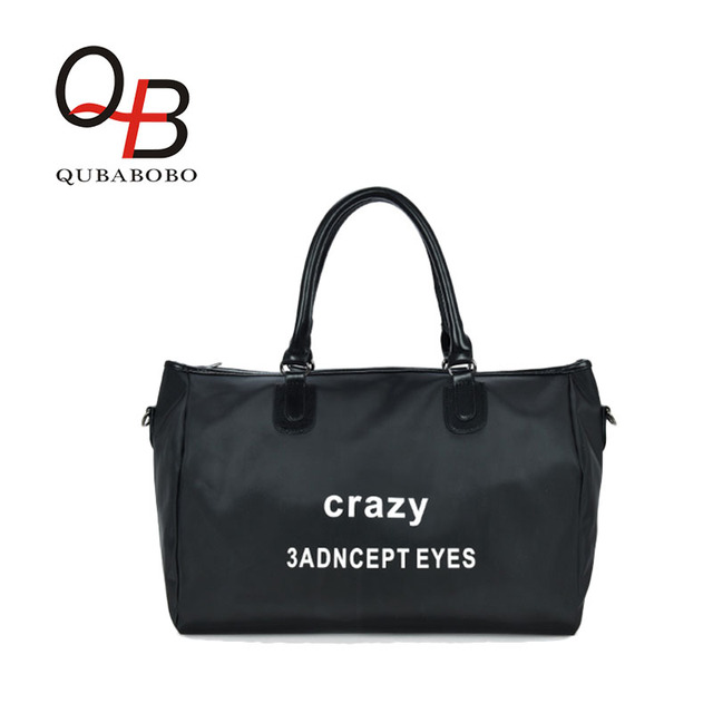 QUBABOBO Oxford Large Capacity Women Travel Bags Ladies Waterproof Tote Bag Leisure Boy & Girl Pattern Handbags With Letters