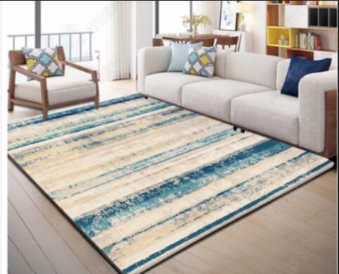 200 300cm NEW INS Nordic Modern Metal Golden Carpet Black Geometric for Bedroom Door Rug Livingroom Carpet Parlor Tapete Metal W in Carpet from Home Garden