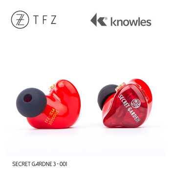 TFZ SECRET GARDEN 3 HiFi 3*Knowles Dynamic + Balanced Armature Hybrid driver In-ear earphone with 2Pin/0.78mm Detachable IEM 1