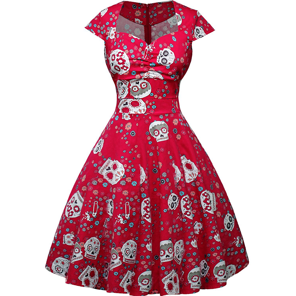 Ishine 2017 summer vintage dress retro patchwork floral print ishine 2017 summer vintage dress retro patchwork floral print womens floral sugar skull cap sleeve sewing casual in dresses from womens clothing jeuxipadfo Images