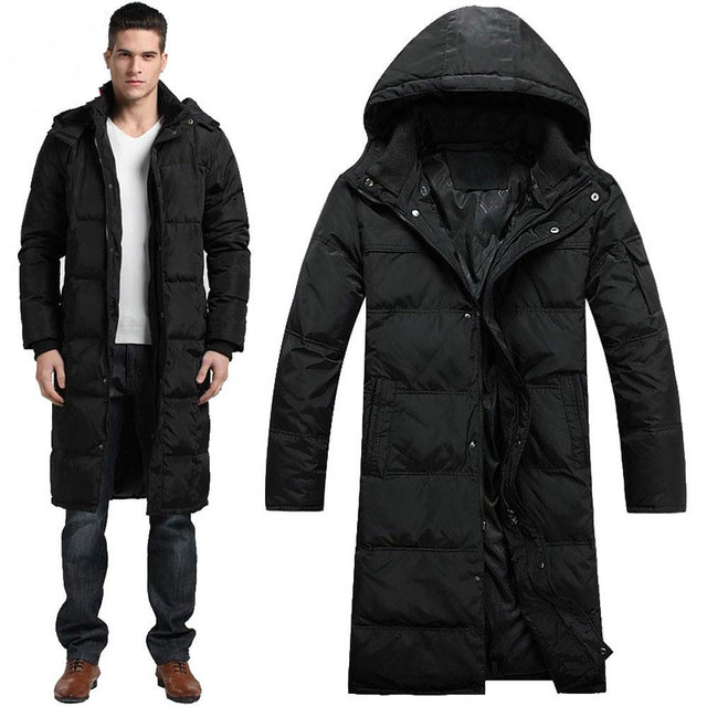 c97dbedfcc01 Hot Men Coat Winter Outdoors Long trench Coat Down Jacket Thickening Hooded  Army Green Parka Coats Free Shipping big size XXXXL
