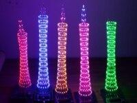 7 لون ضوء مكعب جناح diy برج كانتون خريج عدة ديي تصميم برنامج التسليم بيانات 51 رقاقة واحدة الإبداعي الإلكترونية