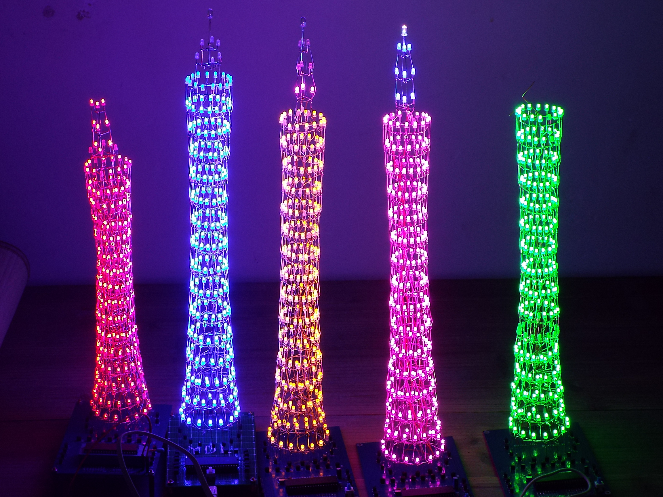 7 DIY color light cube suite DIY Canton Tower kit graduate design 51 single chip creative electronic data delivery program light cube suite tower in paris eiffel tower led diy music spectrum electronic parts