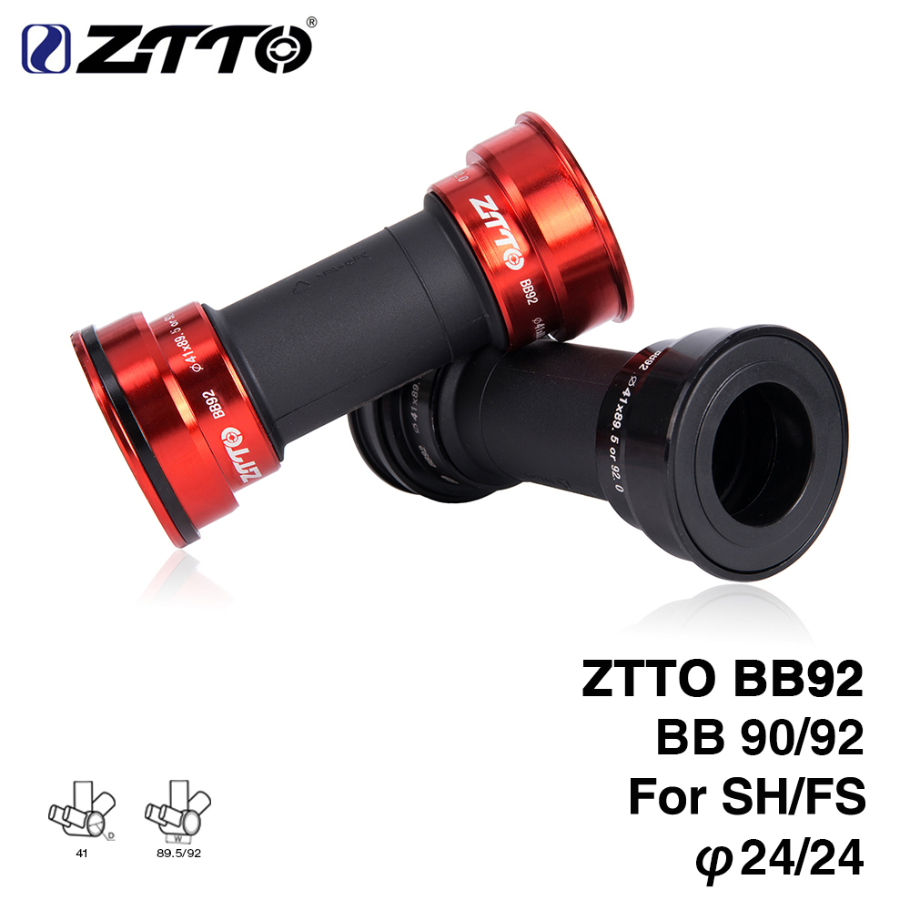 ZTTO BB92 MTB Bottom Bracket BB92 BB90 Road Bike Press Fit Bottom Brackets for 24mm Crankset chainset