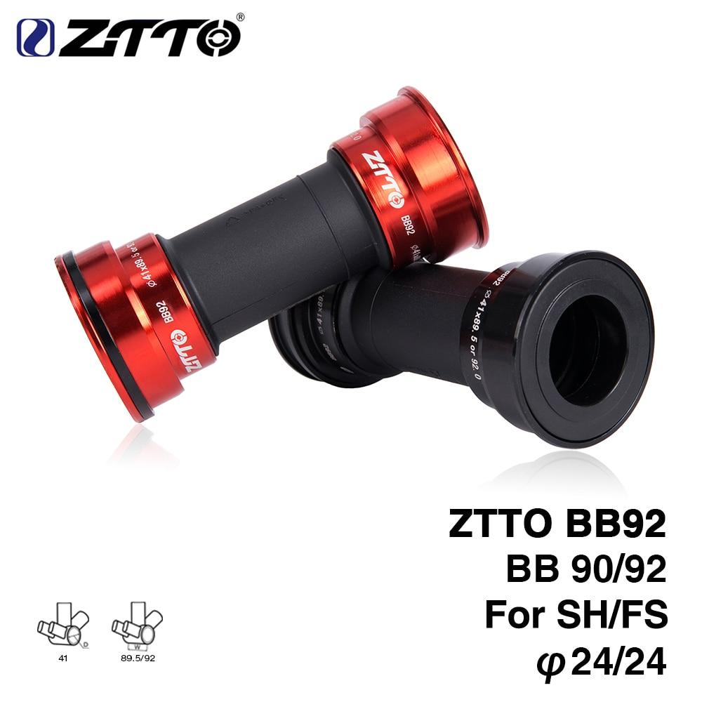 ZTTO BB92 MTB Bottom Bracket BB92 BB90 Road Bike Press Fit Bottom Brackets For 24mm Crankset Chainset