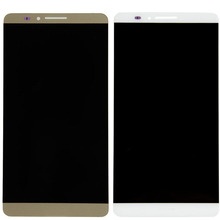 High Quality 1pcs New  LCD  Module For Huawei Mate 7 LCD Display Digitizer Touch Screen Assembly White Gold VA015 T17 0.35