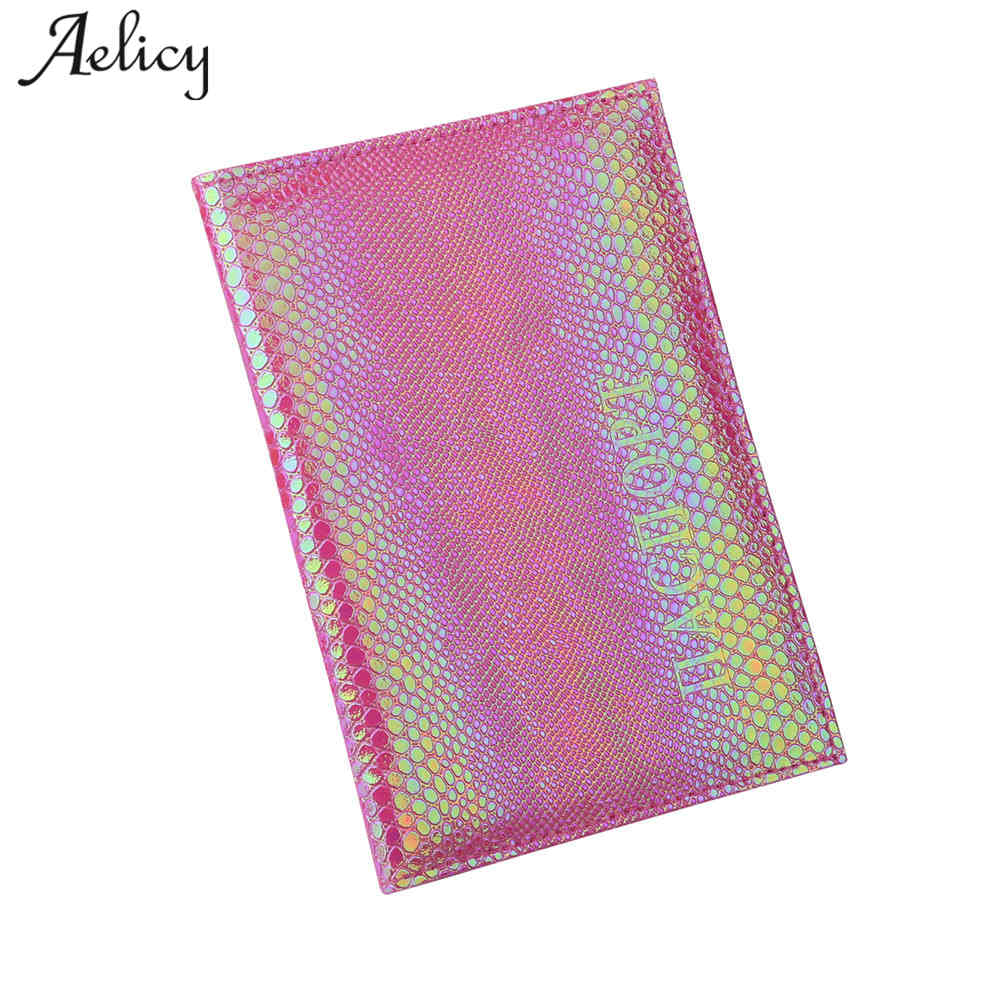 Aelicy Passport Cover Leather Women Travel Wallets Cover On The Passport Leather Protector Travel Passport Holder Wallet hot overseas travel accessories passport cover luggage accessories passport card secret garden