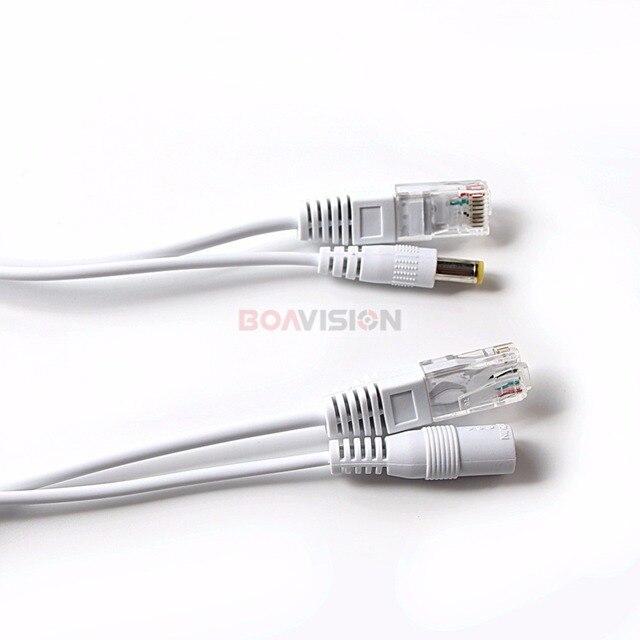 Adaptateur dalimentation Ethernet 5V 12V 24V 48V   Kit de répartiteur POE, connecteurs de câble RJ45, adaptateur dalimentation, câble dalimentation passif