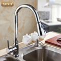 New design pull out faucet chrome silver swivel kitchen sink Mixer tap kitchen faucet vanity faucet 83011