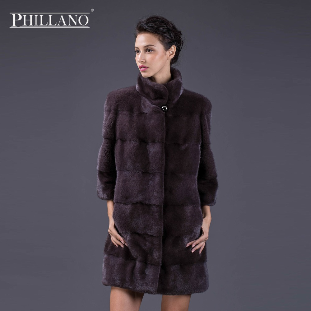 Best Femmes Perle De Cuir Véritable Phillano violet Mode Mandarin Jeunes black Col Manteaux Vison Chaud Pearl Manteau vente Fourrure fAwdqd6xH