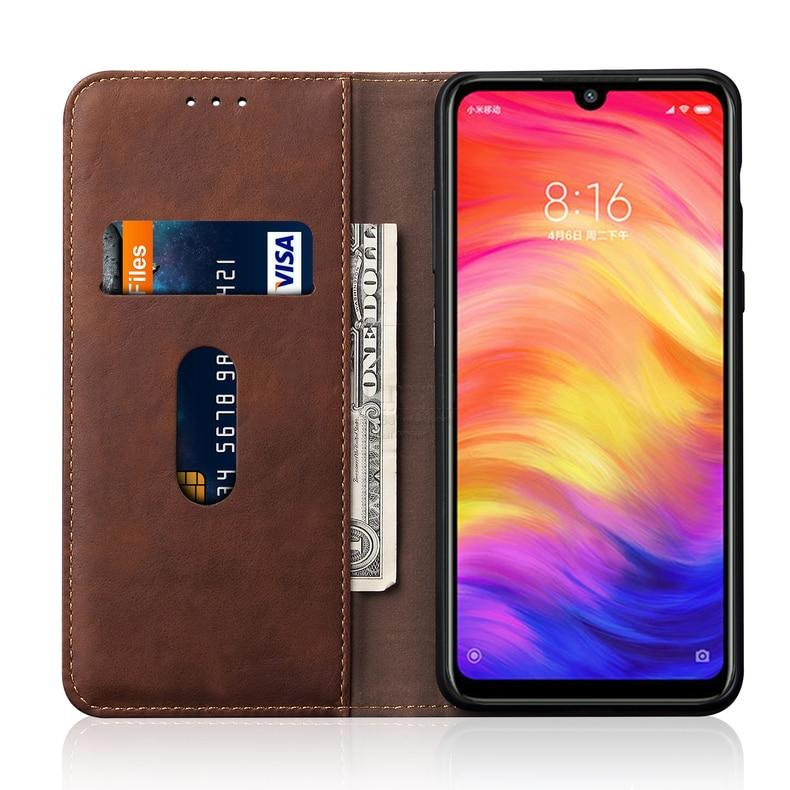 Luxury Retro Slim Leather Flip Cover For XiaoMI RedMi Note 7 Case Wallet Card Stand Magnetic Book Cover For Xiomi RedMi 7 Case