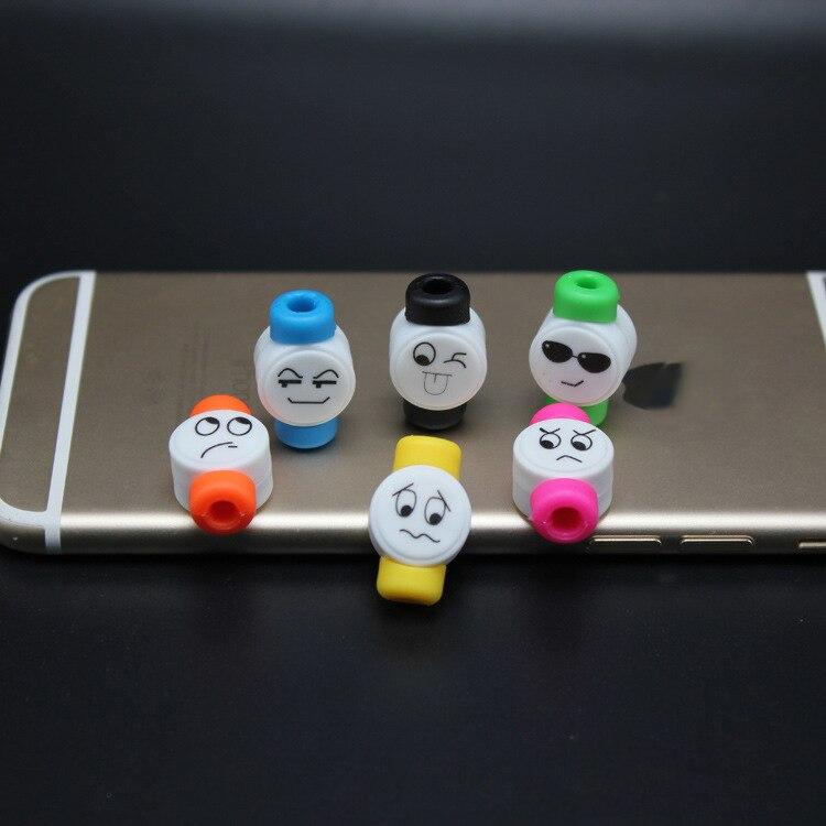10 шт./лот милые Уход за кожей лица USB Зарядное устройство кабель протектор красочные Наушники данных USB кабель чехол для iPhone Samsung HTC Бесплатна…
