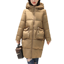ФОТО fashion trend winter 2017 new women cotton long jacket hooded design thick warm women parkas coats high quality warm outwear