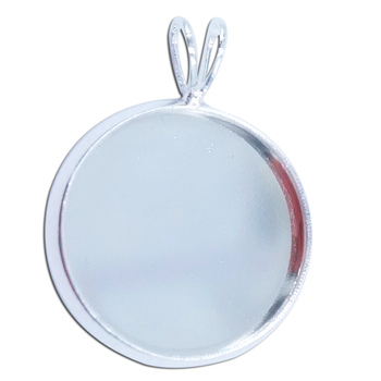 1000piece 10mm 12mm 14mm 16mm 18mm 20mm 25mm Silver Plated Cabochon Setting Blanks DiY Round Bezel Pendant Trays Base PT21