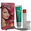 Moda Rojo Uva Alérgica No Tinte Para El Cabello Crema Color de Pelo Permanente DIY Crema de Color de Pelo