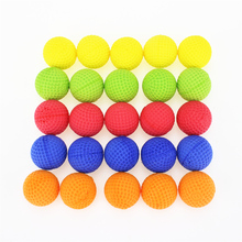 Pack of 10 Round Dart Refills Foam Bullets for Rival Zeus Apollo Nerf Toy Gun - 5 colors Mixed color 15