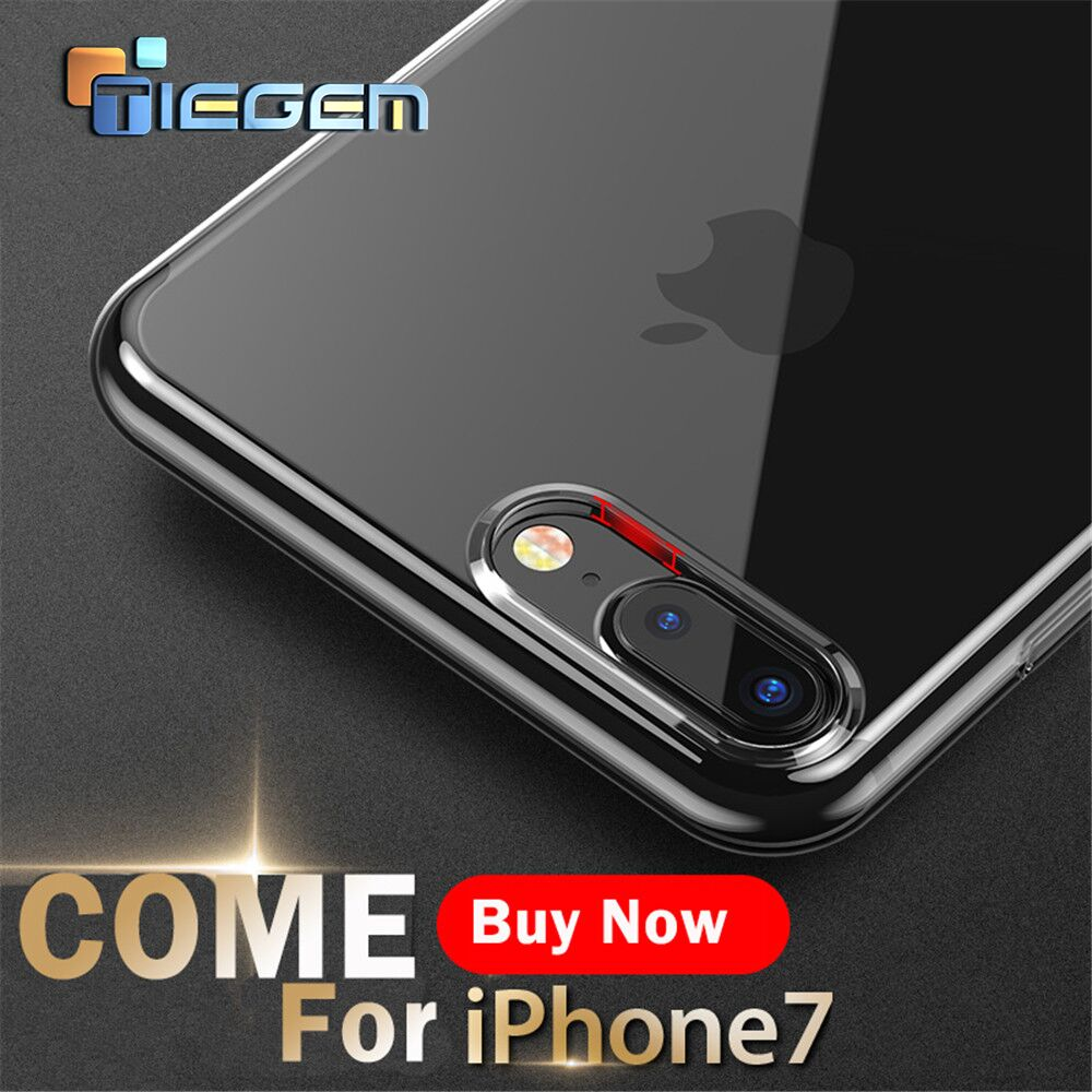 TIEGEM Phone Cases for iPhone 7 8 6 6S Plus Case Crystal Clear TPU Silicone Cover for iPhone X 5 5s SE Phone Bags & Cases(China)