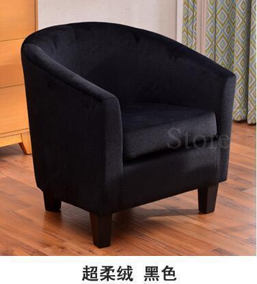 Европейский тканевая одноместная Софа стул интернет кафе кофе небольшой диван гостиничная комната кабинет компьютерный диван стул - Цвет: VIP 17