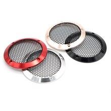 2PCS 3.5 Car Speakers Aluminum Mesh Cover Inch Midrange Speaker Grill Metal Protection Protective