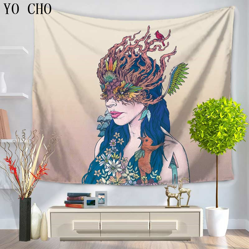 Home & Garden Yo Cho 2017 New Warm Color Indian Mandala Tapestry Eleghant And Clean Home Decor Wall Hanging Tapiz Pared Flores Yoga Mat Tapete