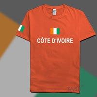 Costa d'avorio costa d'avorio mens t shirt moda 2017 jerseys' nazione t-shirt in cotone clothing sporting tees civ ivorian ivoirian