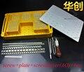 Ortopedia instrumento conjunto de tornillo caja de esterilización caja con tornillo de aleación de aluminio del espacio caja de uso VETERINARIO y ortopedista tool set