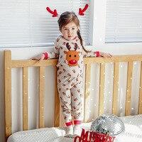 Children S Christmas Pajama 1 Sets Pajamas For Girl Winter New Cotton Cartoon Home Clothes Elk