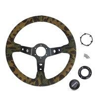 14 inch /350MM Car steering wheel Racing off road camouflage steering wheel racing OMP,MOMO for pathfinder r51 for jetta mk6