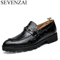 Cool Men Italian Formal Shoes Luxury Brand 2017 Male Classical Patent Leather Footwear Unique Dress Brogue