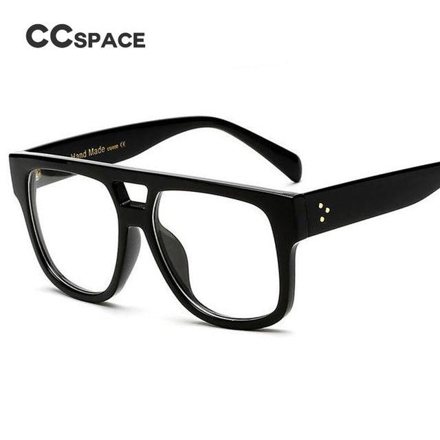 CCSPACE Flat Top Retro Glasses Frames Men Women Brand Designer ...