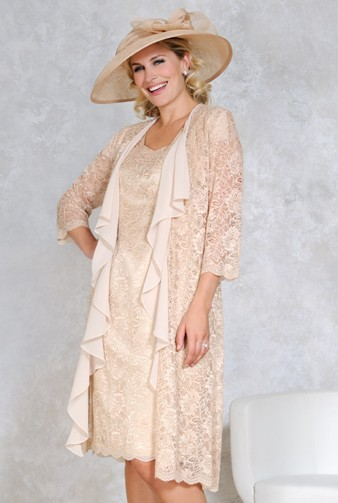 Plus Size Mother of the Bride Lace Dresses with Jacket Madre De ...