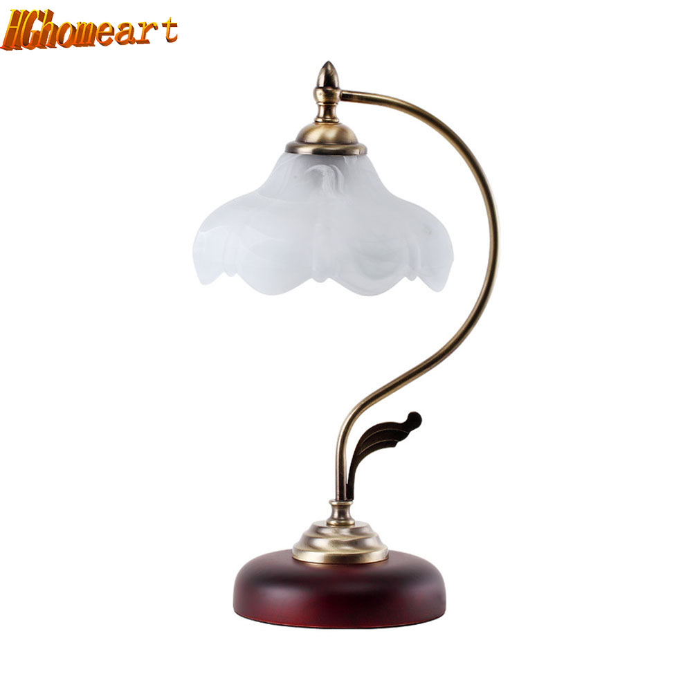 LED Retro Energy Saving Lamp European Pastoral Touch Creative Bedside Lamp Bedroom Lamp Adjustable Light Study Lamp