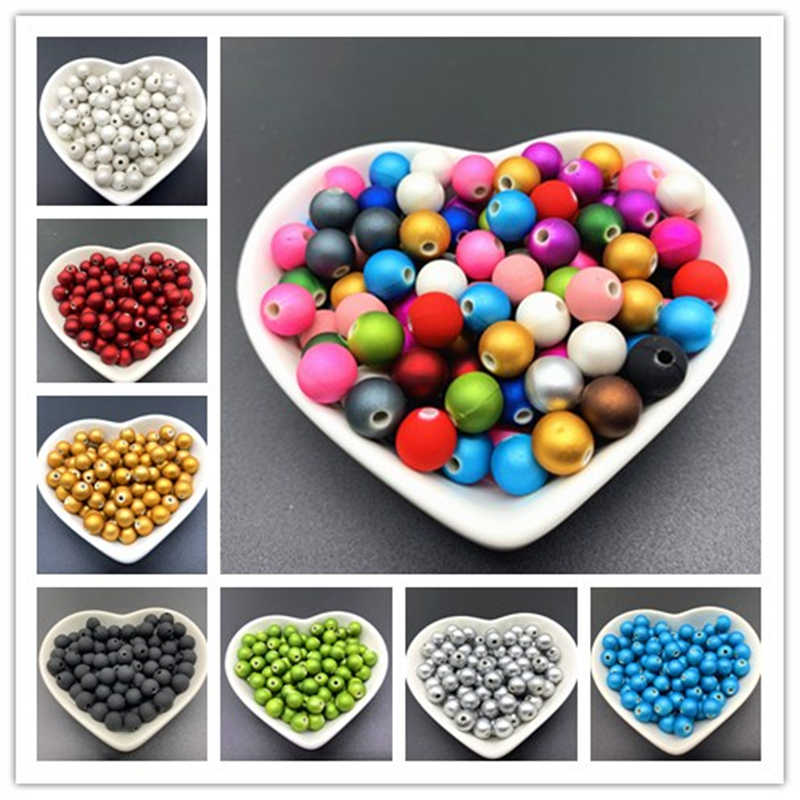 100/50/30pcs/lot6/8/10mm Cheap Hot Acrylic Beads Fits for Handmade DIY Necklace Bracelet Jewelry Making Wholesale