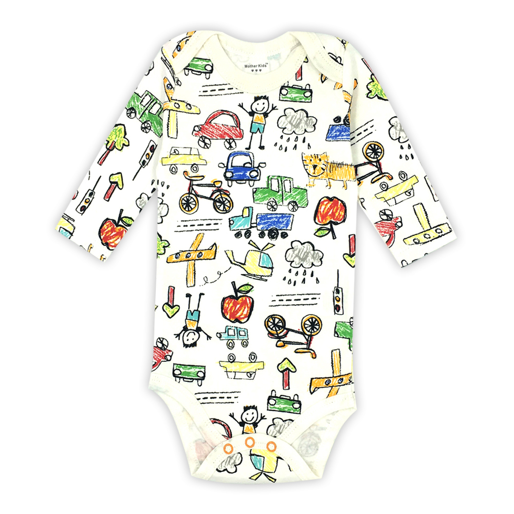 Baby Boy Girl Clothes 0-24 Months Newborn Toddler Infant Long Sleeve Cartoon Print Baby   Romper