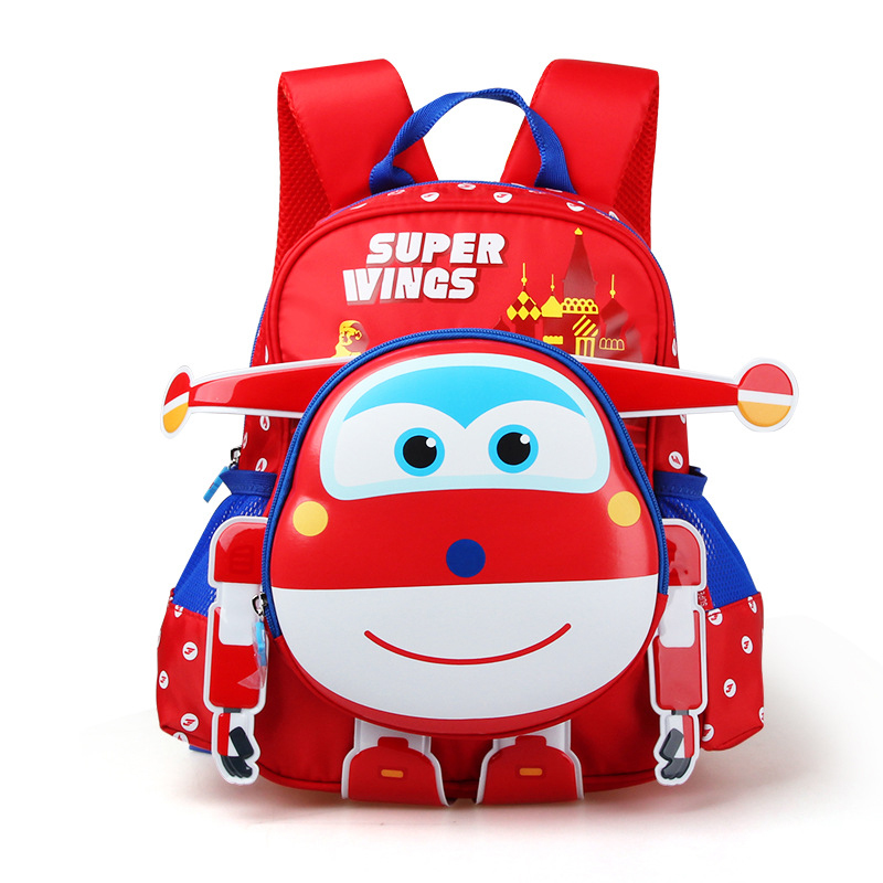 Super Wings Backpacks Anime School Bags Toys & Hobbies Baby Kindergarten Study Stationary Super Wings Action Figure School Bag auldey super wings toys action