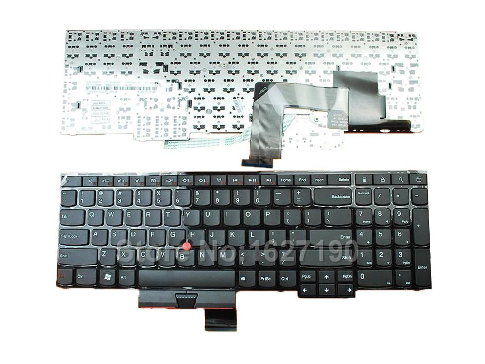 United States laptop keyboard For ThinkPad E530 BLACK(With Point stick) US New Notebook Keyboards laptop keyboard for sony svt15 black us united states without frame but with backlit 9z n9ebw 01d