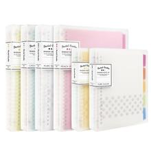KOKUYO dizüstü Pastel çerez tarzı kişisel günlüğü planlayıcısı halka bağlayıcı not gevşek yapraklı not defteri günlük planlayıcısı A4 A5 b5