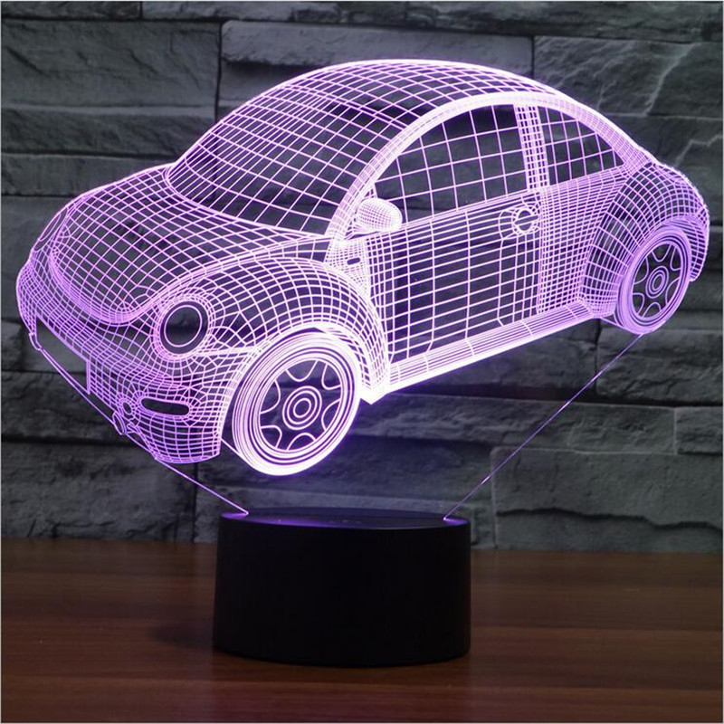 nouveau 3d lumire color beetle led night light lampe dhumeur pour les vacances usb lampe de bureau 7 couleurs changeantes com - Lumire Colore