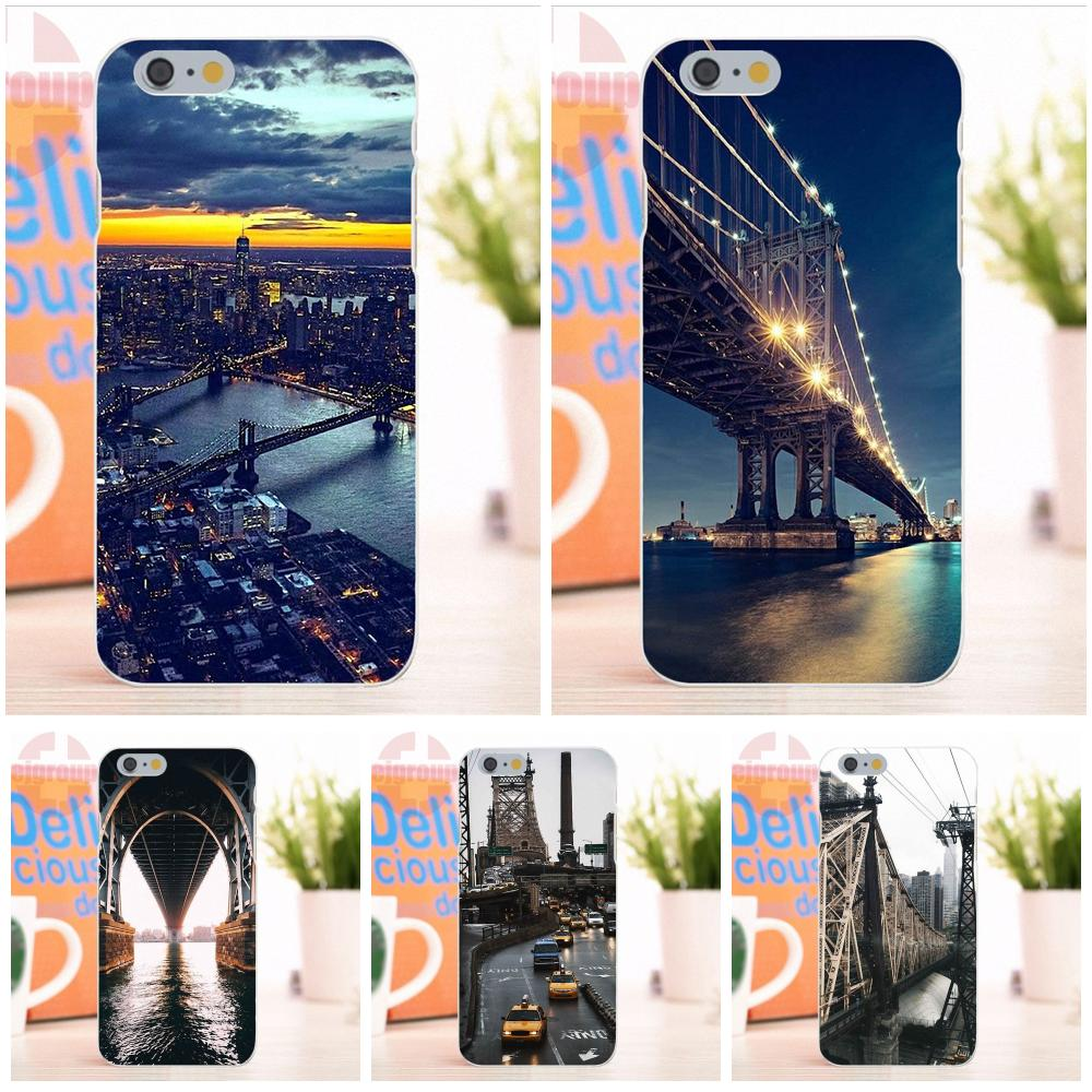EJGROUP Soft Silicone TPU Transparent Mobile Phone Cute New York Ny City For Apple iPhone 4 4S 5 5S 5C SE 6 6S 7 8 X Plus