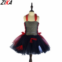 ZIKA Vampire Girl Tutu Dress Children Halloween Cosplay Costume Dresses Kids Girl Party Photography Clothes Fancy