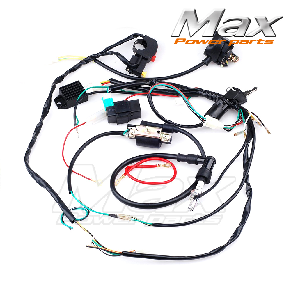 complete electrics cdi coil wiring loom harness kick for. Black Bedroom Furniture Sets. Home Design Ideas